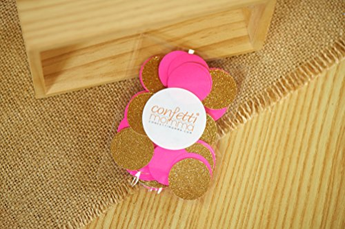 Sweet-16-Decorations-Hot-Pink-and-Gold-Confetti-Circles-1-Table-Confetti-Party-Decor-2-Packs-50ct-each