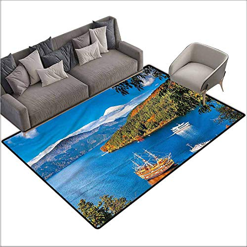 Large Floor Mats for Living Room Pirate Ship,Lake