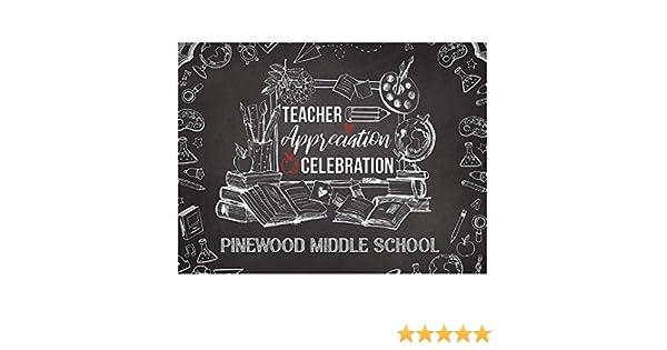 Teacher Appreciation Day Banner Backdrop Size 24x18 36x24 Teacher Gift School Wall Decor Teachers Day Welcome Back to School Chalkboard 48x24 and 48x36