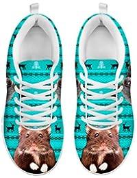 Women's Sneakers-Djungarian Hamster Or Siberian Hamster Print Casual Running Shoes