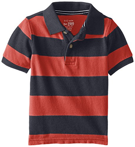 The Children's Place Baby Boys' Rugby Stripe Polo, Tidal, 18-24 Months