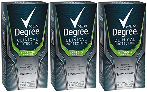 Degree Men Clinical+ Antiperspirant & Deodorant, Extreme Fresh 1.7 oz (Pack of 3)