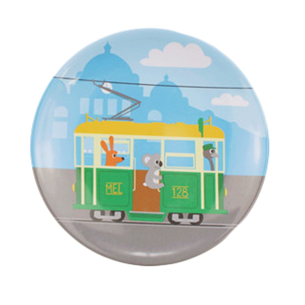 Kylin Express Kids Fashion Creative Plate Break-resistant Melamine Animals Dishes (Tram)