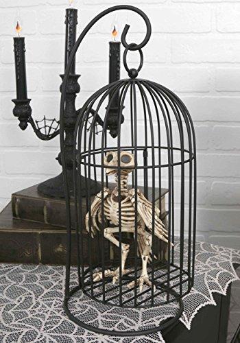 Crazy Bonez Skeleton Crow in Cage]()