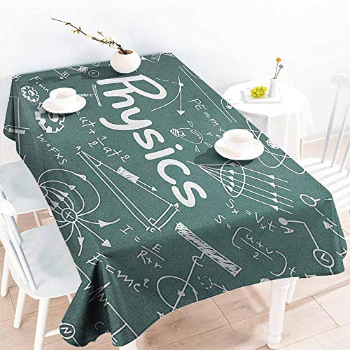 - familytaste Doodle,Outdoor Tablecloth Physics Science Education Theme Mathematical Formula Equation on School Board 60