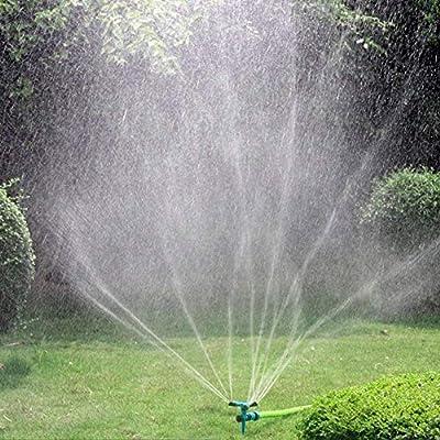 Starnearby – Aspersor de césped, aspersor de Agua automático, rotación de 360 °, aspersor de jardín de 3 Brazos con aspersor de Impacto, ángulo Ajustable y Distancia para riego de césped: Amazon.es: Jardín