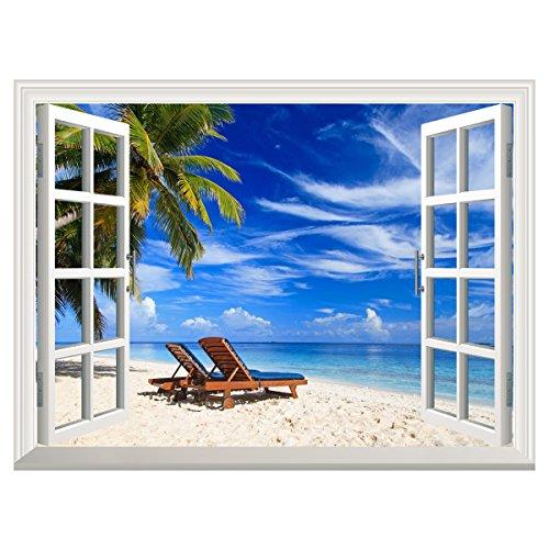 UNIQUEBELLA Sticker Window Tropical Creative