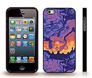 iStar Cases? iPhone 5/5S Case with Color Blurs, Blue to Yellow , Snap-on Cover, Hard Carrying Case (Black)