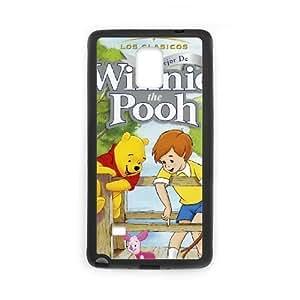 Samsung Galaxy Note 4 Black phone case Classic Style Disney Cartoon Many Adventures of Winnie the Pooh WOL8002402