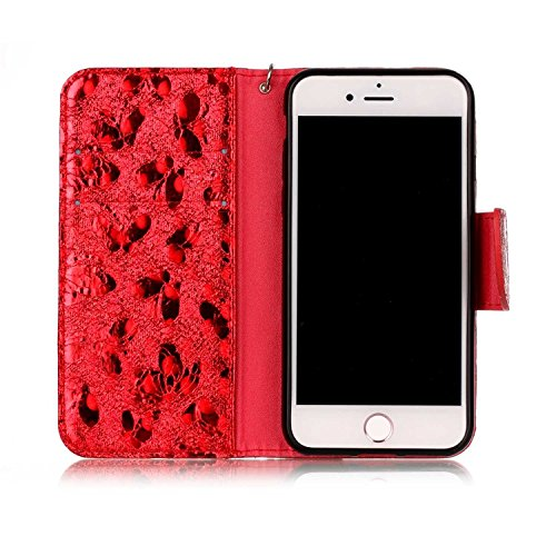 Vandot para iPhone 7 PU Funda Serie Bolsa Modelo Colorido con Bonito Hermoso Patrón de Impresión Dibujo Monedero de la Cartera de la Cubierta Móvil del Bolso del Teléfono Móvil del Proteja la piel con LSFD 02