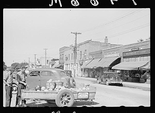 Photo: Main street,Rice,Minnesota,MN,September 1939,John Vachon,Small Towns,FSA