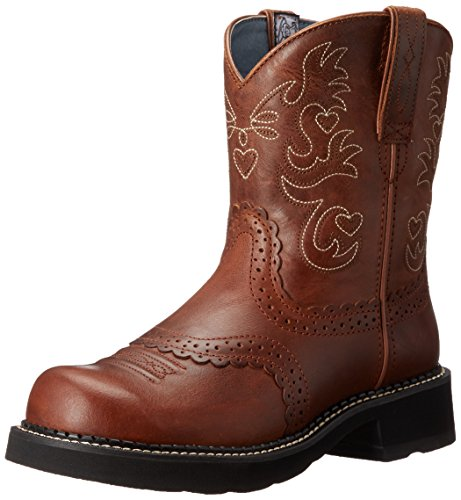- Ariat Women's Fatbaby Saddle Western Cowboy Boot, Russet REBEL, 11 B US