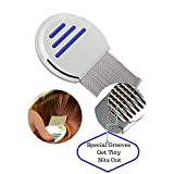 Nit Free Lice Comb, Professional Stainless Steel Louse and Nit Comb for Head Lice Treatment.