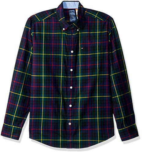 Tommy Hilfiger Adaptive Mens Magnetic Button Shirt Custom Fit