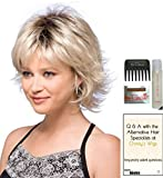 LEXY Gradiant by Noriko Wig, 15 Page Christy's Wigs Q & A Booklet, Wig Shampoo, Wig Cap & Wide Tooth Comb - Color: CHAMPAGNE - R