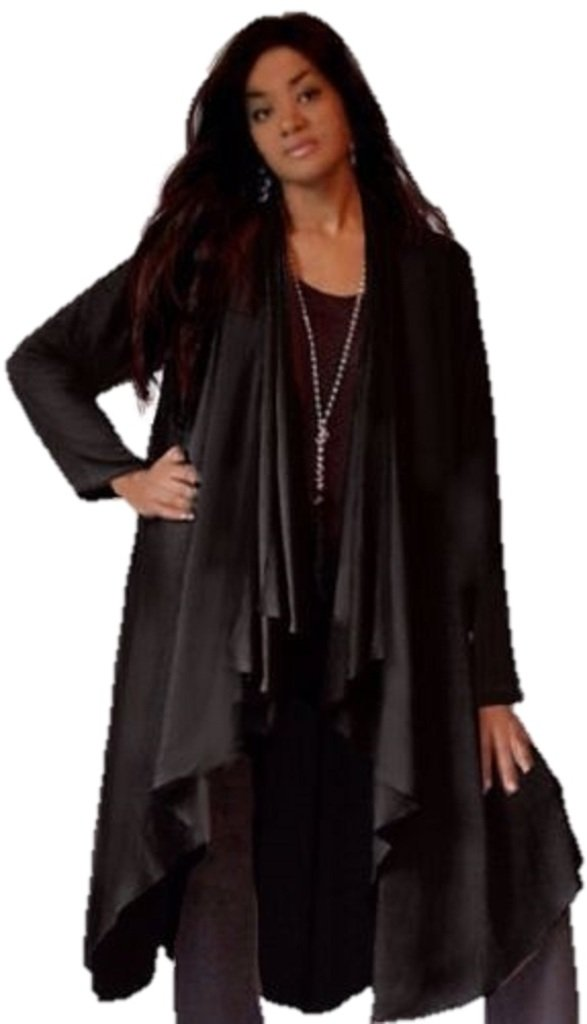 Lotustraders Jacket Duster Long ASYM Fashionable Midnight Black 5X B680 by LOTUSTRADERS