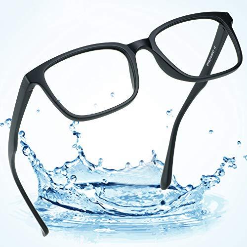 LifeArt Blue Light Blocking Glasses,Computer Reading Glasses,Transparent Lens,Reduce Headaches&Eyestrain,Stylish for Women/Men ()