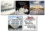 Bible Verse Magnets - Fridge Magnets - Christian Art Gifts - Scripture Prints - Set of 5
