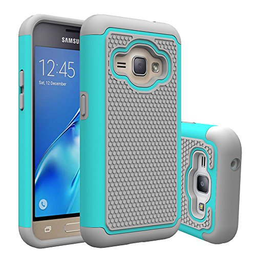J1 2016 Case, Galaxy Amp 2 Case, Galaxy Express 3 Case, Anna Shop Slim Hybrid Dual Layer Armor Shock Absorption Defender Impact Protective Case Cover for Samsung Galaxy J1 2016 / Amp 2 / Express 3 (Samsung Galaxy 2 Case For Girls)