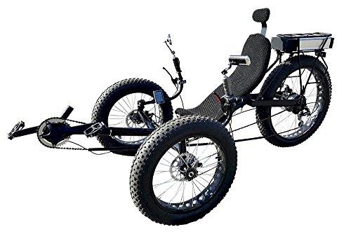 Fat Tire Electric Recumbent Tricycle, Recumbent Trike ()