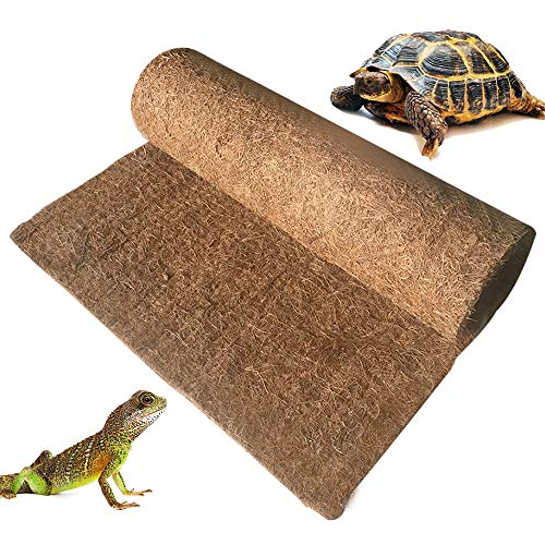 BLSMU Reptile Carpet,Coconut Fiber Substrate,Lizard Cage Mat,Coco Fiber Liner,Snake Bedding,Natual Coconut Fiber Carpet for Bearded Dragon,Turtles,Iguana,Tortoises (35.4