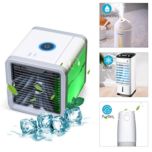 YACHANCE personal space air cooler portable air conditioner fan personal ac unit air cooler desk fan mini small ac unit cooling fan swamp evaporative cooler USB Desktop Cooling Fan by YACHANCE