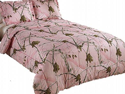 - Realtree AP Mini Comforter Set, Full, Pink, Camo