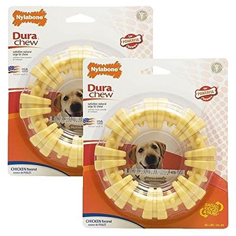 Nylabone Dura Chew Plus Textured Ring Dog Chew (Large - Pack of 2) - Dura Chew Plus Bone