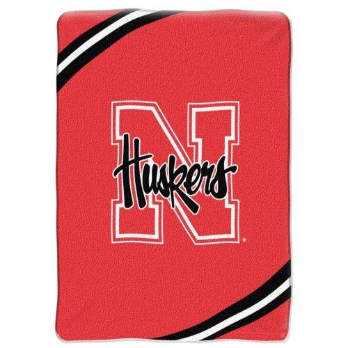 NCAA Nebraska Cornhuskers Royal Plush Raschel Throw Blanket - Force Design