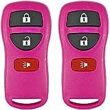 2 Dark Pink- QualityKeylessPlus Remote Replacement 3 Button Keyless Entry FCC ID: KBRASTU15 FREE KEYTAG