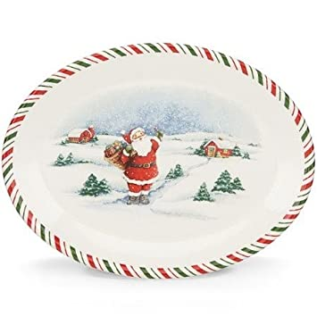 Kathy Ireland Once Upon a Christmas Santa Oval Platter  sc 1 st  Amazon.com & Amazon.com | Kathy Ireland Once Upon a Christmas Santa Oval Platter ...