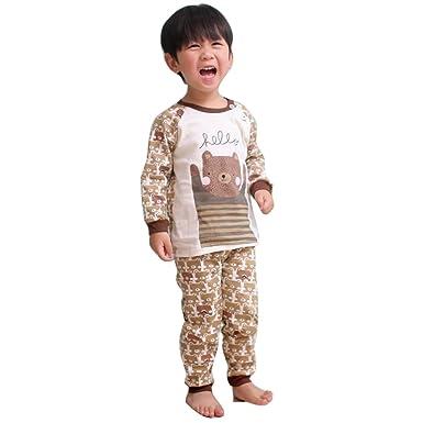 8e71e1456 Kootk Newborn Infant Baby Pajama Set Boys Girls Toddler Shirts + ...