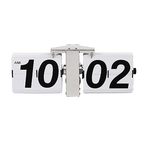 Kbsin212 Reloj de Cuarzo Vintage Despertador Digital Auto-Flip Silenciosamente Reloj Flip Retro de Números