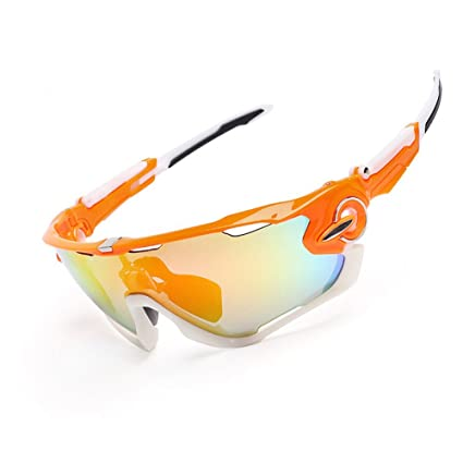 Gafas de ciclismo, deportes al aire libre, gafas polarizadas, naranja