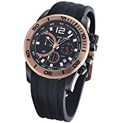 Timeforce TF3145M11 45mm Stainless Steel Case Black Rubber Mineral Men's Watch