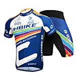 INBIKE Men's Summer Breathable Cycling Jersey and 3D Silicone Padded Shorts ...