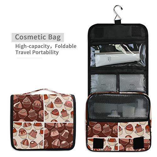 - Toiletry Organizer Wash Bag,Smores Cake Portable travel bathroom shower bags Deluxe Large Capacity Waterproof Pouch Kit with Hook for Men and Woman