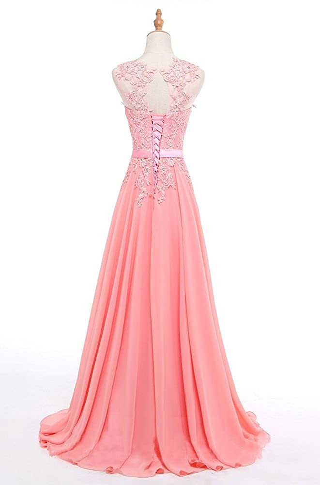 QSYE Womens Lace Beaded Prom Dresses Applique Empire Evening Formal Party Dresses at Amazon Womens Clothing store: