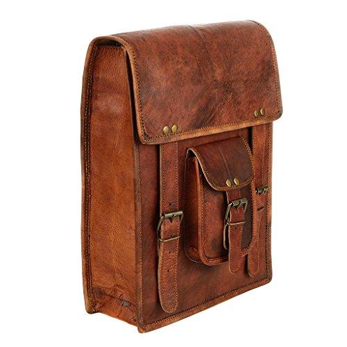 Borsa grande in pelle marrone stile zaino borsa con opzione