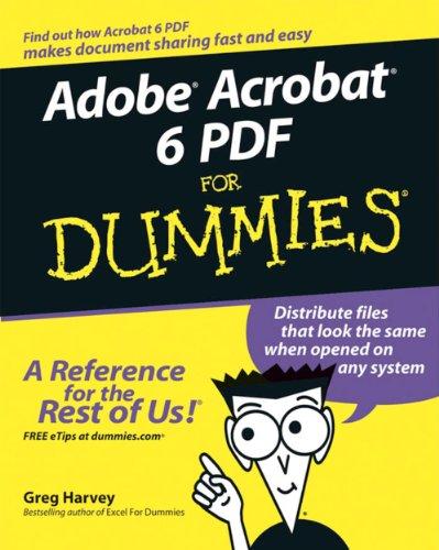 Adobe Acrobat 6 PDF for Dummies (English Edition)