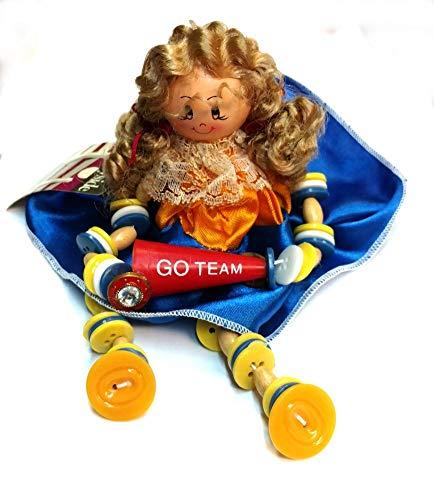 Countryside Keepsakes Button Doll (Cheerleader) (Figurine Cheerleader)