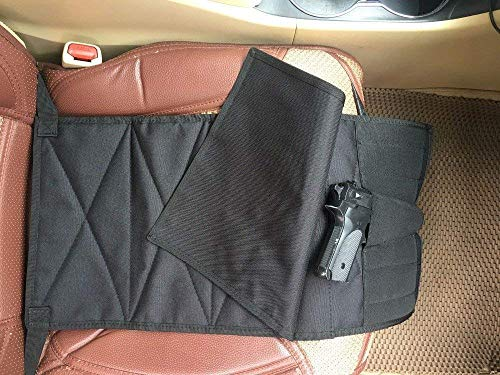 38 Special Handgun - DMAIP Under The Seat Concealment Pistol Holster with Pieces Pouch