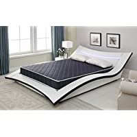 6 Foam Mattress with Navy Blue Waterproof Cover (Twin)