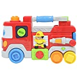 Firetruck Toys For Toddlers And Babies With Sounds And Lights Includes English & Spanish Mode Educational Musical And Interactive Fire Truck For Your Babys Development And Hand Skills