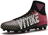 VITIKE Kids Soccer Cleats for Boys Youth Cleats Football Boots with High Ankle Sock Cleats for Soccer Athletic Running Performance Shock Buffer Foot Care Indoor/Outdoor