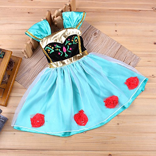 [Baby Girl Toddler Anna Coronation Dress Frozen Inspired Costume Halloween 9m-4 (9-12M (70cm))] (Baby Anna Costumes Frozen)