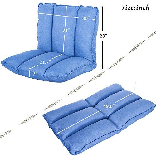 51txSocEJOL - HarperBright-Designs-Adjustable-5-Position-Folding-Floor-Chair-Gaming-Sofa-Lounger-Bed