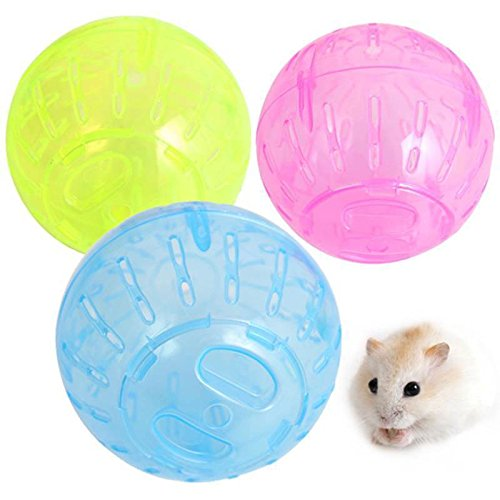 Unetox Pet Toy Rodent Jogging Exercise Playing Plastic Ball Mini Ball for Hamster Gerbil Rat Mice (Random Color)