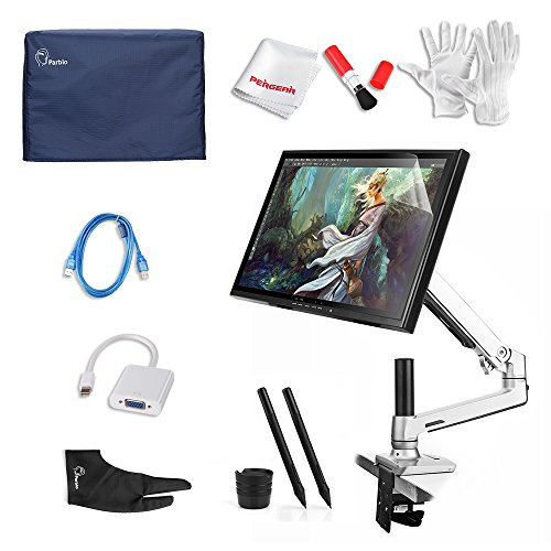 Ugee UG-1910B 19 Inch Graphics Pen Display Tablet with LCD Monitor Arm, DP  to VGA Adapter, 2 Original Pens, Monitor Cover, Screen Protector,