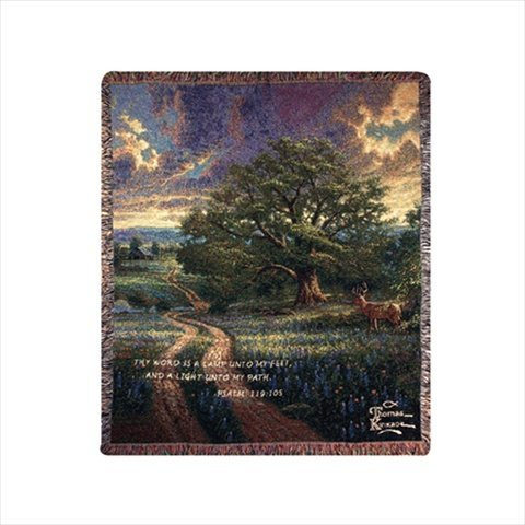 Manual Thomas Kinkade 50 x 60-Inch Tapestry Throw with Verse, Country Living